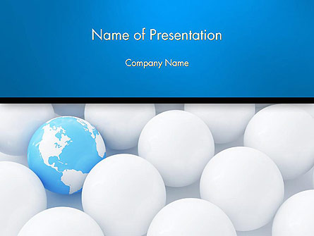 Globe in Among White Balls Presentation Template, Master Slide