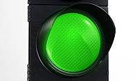 Green Railroad Traffic Light Presentation Template