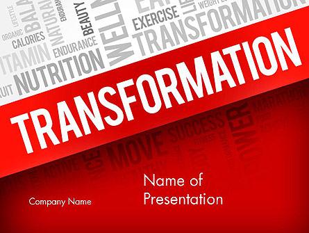Transformation Word Cloud Presentation Template, Master Slide