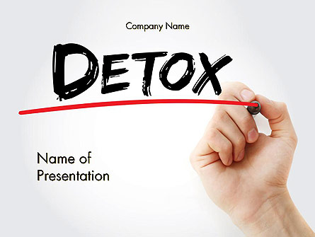 Hand Writing Detox with Marker Presentation Template, Master Slide