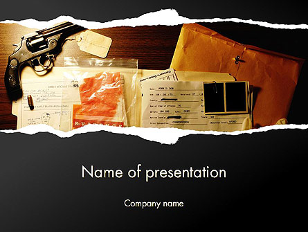 Crime Evidence Presentation Template, Master Slide