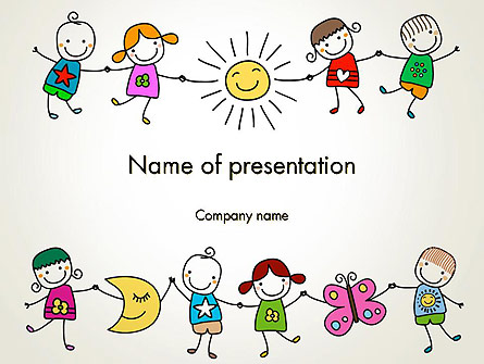 Childish Drawings Presentation Template, Master Slide