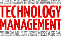 Technology Management Word Cloud Presentation Template