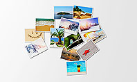 Photos Placed as World Map Shape Presentation Template