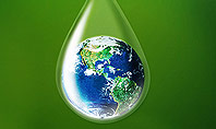 Planet Earth Dew Drop Presentation Template