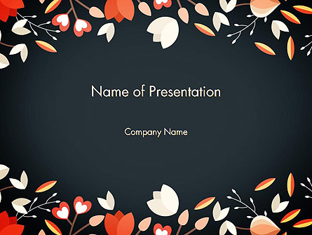 Floral Border Presentation Template, Master Slide