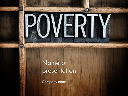 Word Poverty Presentation Template, Master Slide