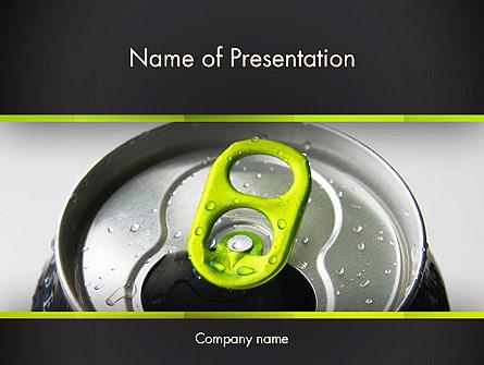 Energy Drink Can Presentation Template, Master Slide
