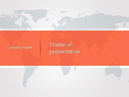 Gray World Map Presentation Template, Master Slide