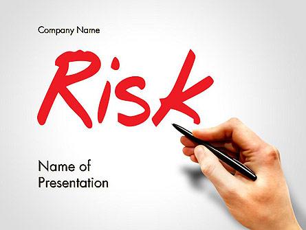 Hand Writing Risk Presentation Template, Master Slide