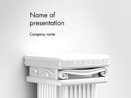 Antique Podium for Exhibit Presentation Template, Master Slide