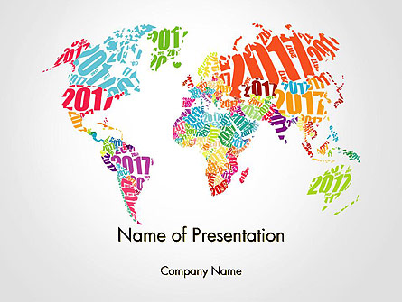 2017 World Map Presentation Template, Master Slide
