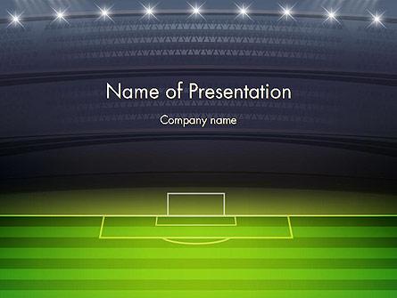 Football Stadium at Night Presentation Template, Master Slide