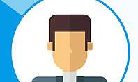 Blue Neutral Background with Person Illustration Presentation Template