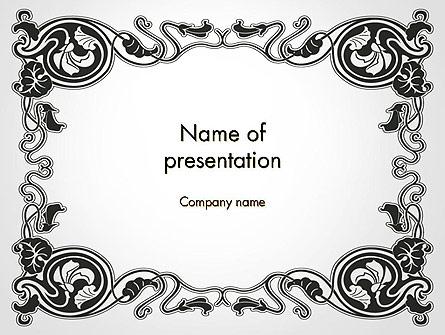 Vintage Baroque Victorian Frame Presentation Template, Master Slide
