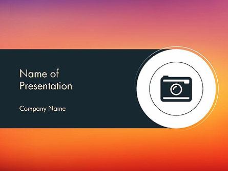 Photo Camera Icon Presentation Template, Master Slide