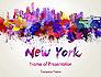 New York Skyline in Watercolor Splatters slide 1