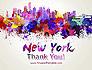 New York Skyline in Watercolor Splatters slide 20