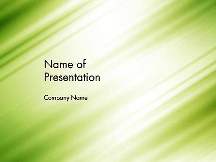 Green Diagonal Motion Blur Abstract Presentation Template, Master Slide