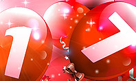 2017 Greeting Card with Red Balloons Presentation Template