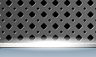 Perforated Metallic Surface with Plate Abstract Presentation Template