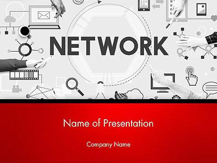 Network Communication Connection Presentation Template, Master Slide