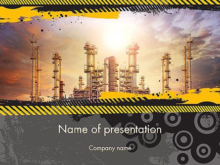 Exterior Tube of Petrochemical Plant Presentation Template, Master Slide