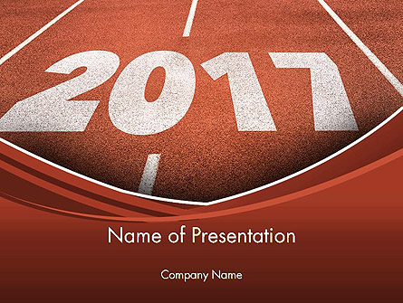 2017 Numbers on Running Track Presentation Template, Master Slide