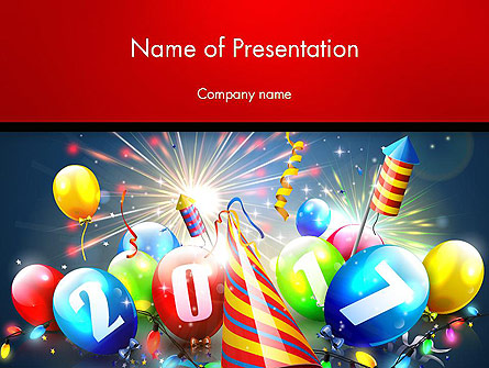 happy new year 2017 presentation template master slide