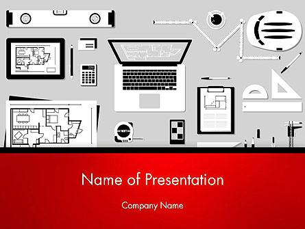 Construction Engineer Desktop Presentation Template, Master Slide