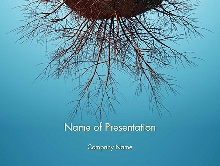 Plant Roots Presentation Template, Master Slide