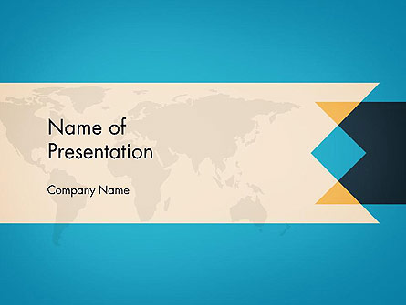 World Map Theme Business Presentation Template, Master Slide