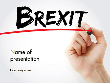 Hand Writing Brexit with Marker Presentation Template, Master Slide