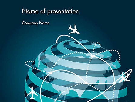 Airplane Connections Network Presentation Template, Master Slide