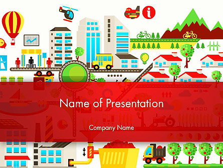 Colorful Ecology Infographic Background Presentation Template, Master Slide