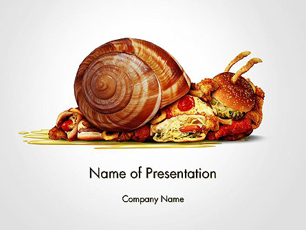 Sluggish Diet Presentation Template, Master Slide