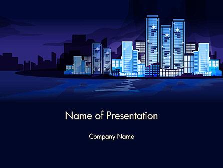 Night City Light Presentation Template, Master Slide
