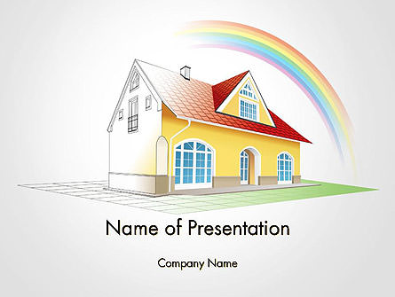 House From Sketch to Colorful Reality Presentation Template, Master Slide