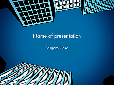 Skyscraper View From Below Presentation Template, Master Slide