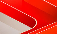 Abstract Glossy Red Orange Perspective Steps Presentation Template