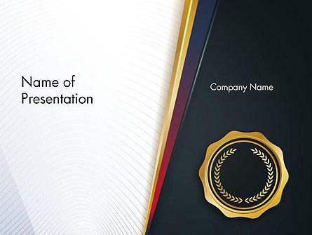 CEO Award Blank Presentation Template, Master Slide