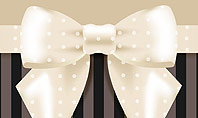Ornate Beige Ribbon and Elegant Bow Presentation Template
