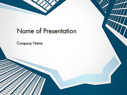 Looking up at Business Buildings in Downtown Presentation Template, Master Slide