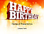 3D Happy Birthday Text slide 1