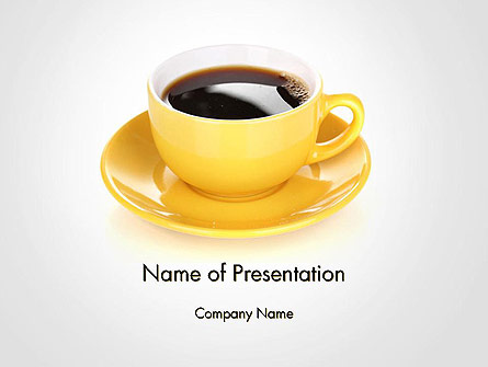 Yellow Cup and Saucer Presentation Template, Master Slide