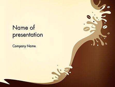 Coffee Splash and Beans Presentation Template, Master Slide