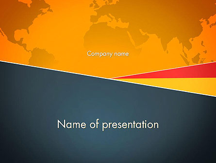 Stylish Brochure Cover Business Presentation Template, Master Slide