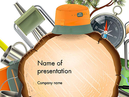 Camping Theme Presentation Template, Master Slide