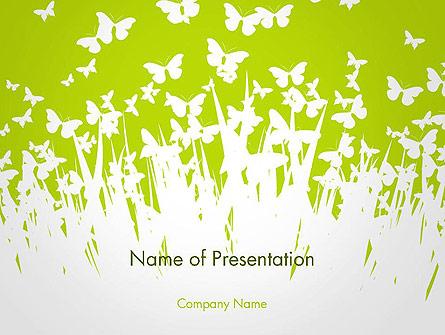 Green Spring Background Presentation Template, Master Slide