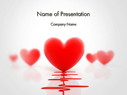 Heart Monitoring Concept Presentation Template, Master Slide